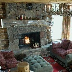 More Cowboy Country Stone Fireplaces The Old West Was