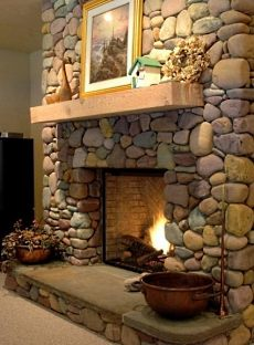 Dry Stack Stone Fireplaces...Superb Craftsmanship ...