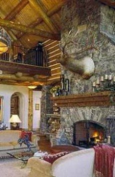 Standout Log Home Fireplaces Designs That Dominate
