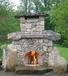 Hot Outdoor Stone Fireplace Designs Heat Up Your Summer