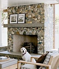 Standout River Rock Fireplace Pictures Real Rock Stars