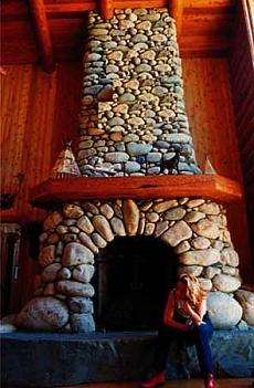 A River Stone Fireplace Rocks!
