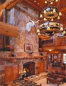 Rocky Mountain Rock Fireplaces Lodges Logs Amp Luxury