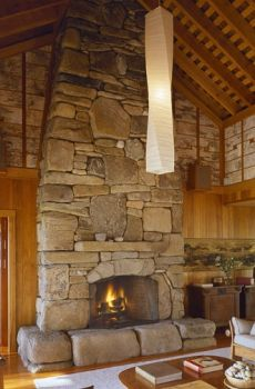 giant fieldstone fireplace | Freshwater Stone Fireplace Construction...Massive and ...