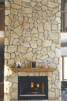 Stone or Rock Fireplace Designs . . . Rustic & Casual