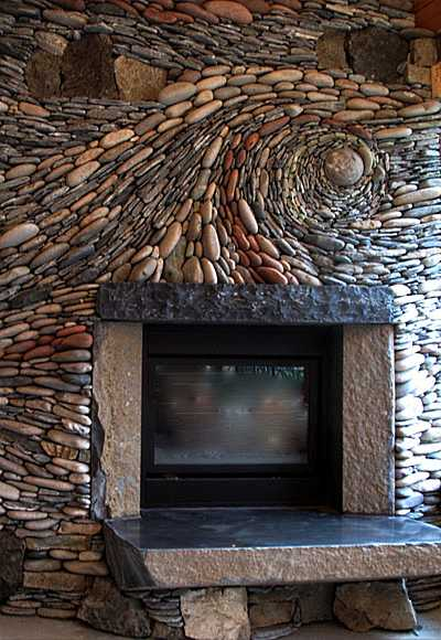 Ideas for building a fireplace that really rocks - Fireplace hearth stone ideas ...