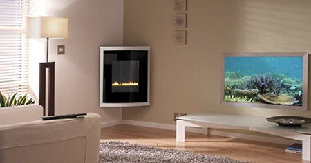 even many corner fireplaces that do require a flue