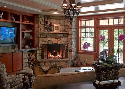 Stone Corner Fireplaces . . . Cornerstones Of A Room!