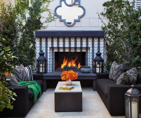 Tile Fireplace Design