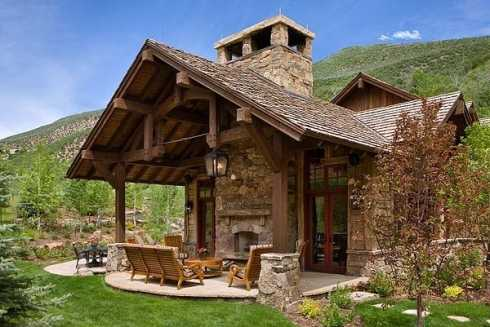 Patio Roof Designs For Outdoor Fireplaces...An Exciting ... on Roof For Patio Ideas id=22342