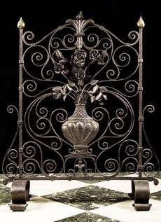 antique fireplace screens