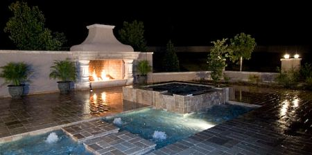 backyard fireplace - Patio Fireplace Designs