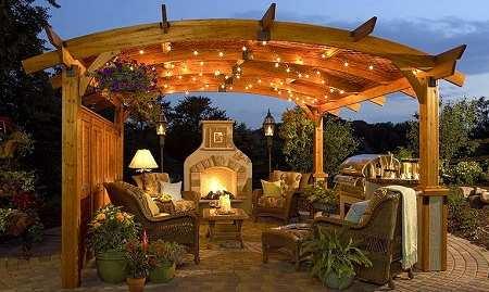 backyard fireplaces