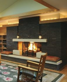 The Finely Crafted Brick Fireplace Blending Past And