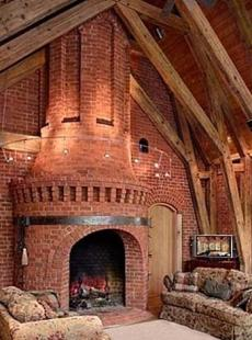 When building brick fireplaces