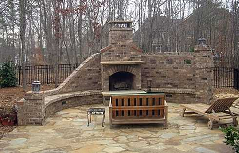 More Brick Outdoor Fireplaces