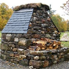 build a stone fireplace