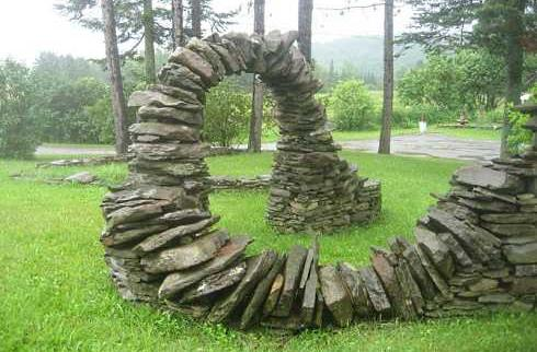 creative building outdoor fireplace ideasgravity defying stonework - Outdoor Fireplace Design Ideas