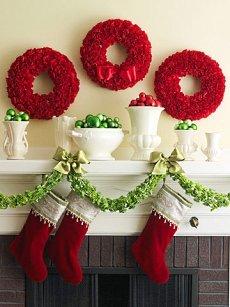 christmas decorating fireplace