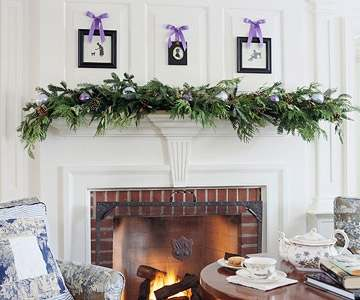 The Christmas decorating fireplace ideas featured here utilize mostly NATURAL materials in their decorating schemes. However