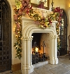 christmas fireplace pictures