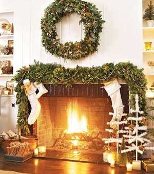 Standout Christmas Fireplaces . . . Colonial To Classical!