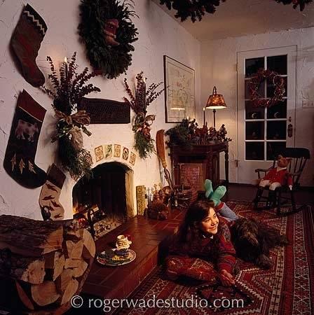 christmas fireplaces