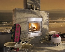 concrete outdoor fireplace