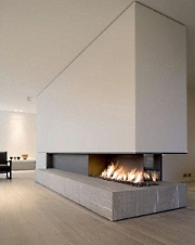 contemporary design fireplace