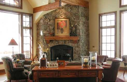 Corner Fireplace Design Ideas . . . Rock Solid!