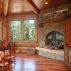 RUSTIC FIREPLACE DESIGNS ON PINTEREST