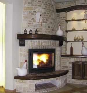Corner fireplace ideas native home garden design for Corner fireplace plans