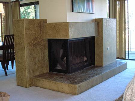 Contemporary corner fireplace for gas designs for Corner fireplace plans