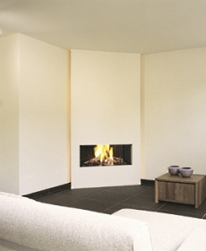 alfa img showing modern corner fireplace