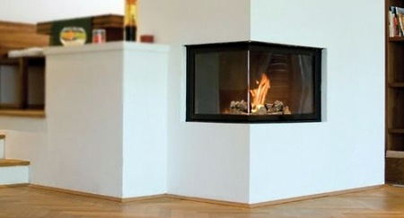 gallery for contemporary corner gas fireplaces