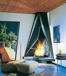 Standout Corner Fireplace Designs