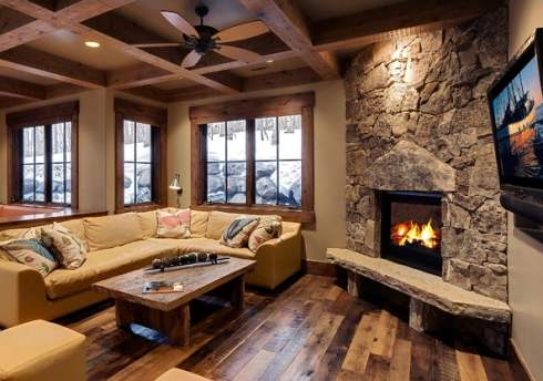 Corner Fireplaces on rustic home decorating ideas