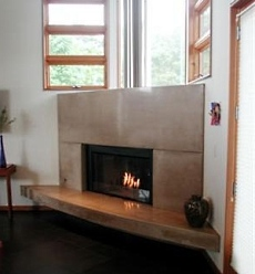 CONTEMPORARY CORNER FIREPLACE FOR GAS DESIGNS