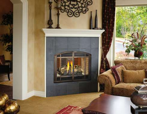 corner gas fireplace - Gas Fireplace Design Ideas