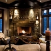 corner stone fireplace designs