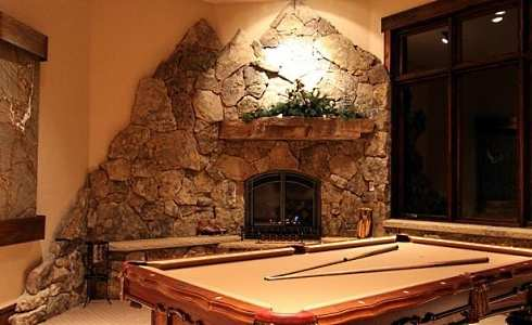 Corner fireplaces corner stone fireplaces ideas Corner rock fireplace designs
