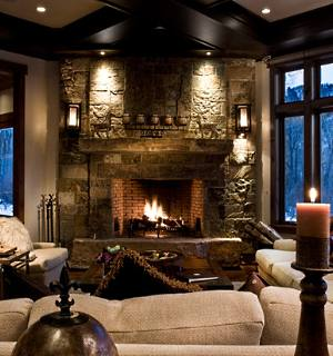 Stone Corner Fireplace Designs Vastly Versatile