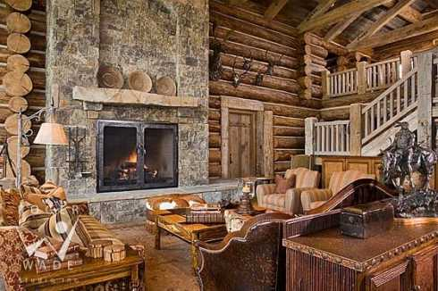Cowboy Country Stone Fireplaces . . . A Roundup Of Exceptional Designs! - Cowboy Country Stone Fireplaces . . . A Roundup Of Exceptional