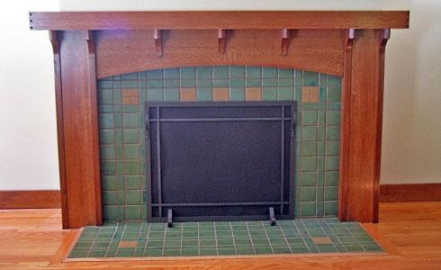 Attractive Craftsman Fireplace