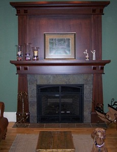 The Craftsman fireplace is back by popular demand!  Its clean lines