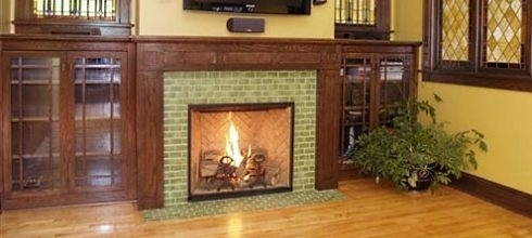 Craftsman fireplaces more standout fire spaces for Craftsman fireplaces photos