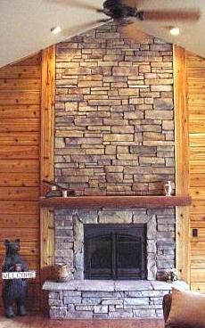 Cultured stone fireplaces continue to climb in popularity as very realistic looking and more affordable alternatives to natural stone fireplaces.