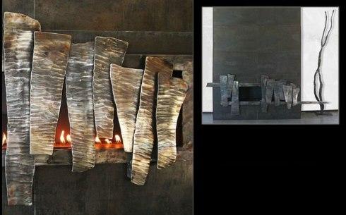 metal fireplace