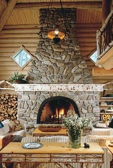 The Fieldstone Fireplace Outstanding In Its Field