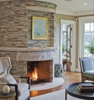 Stone fireplace hearth designs continue to enthrall us as the stone is manipulated by human hands to create fresh and exciting new designs for stone fireplaces!